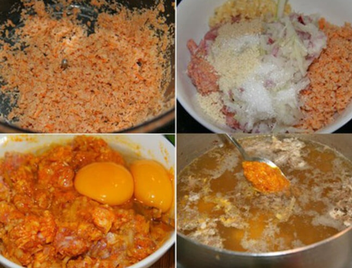 cách nấu bún riêu thịt 4