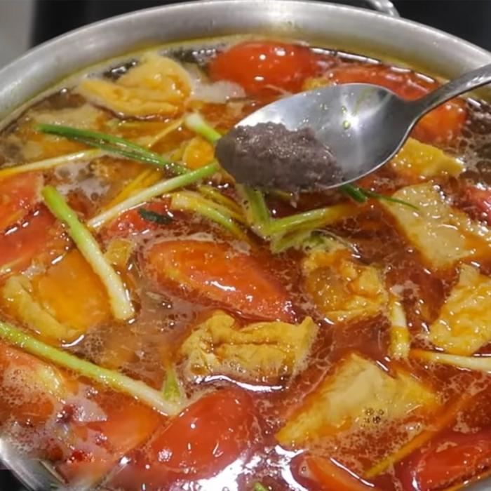 cách nấu bún riêu thịt 5