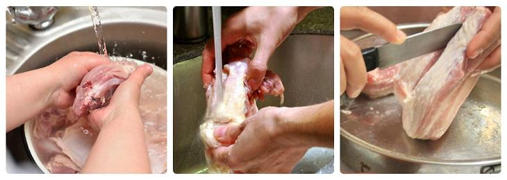 Cách nấu hủ tiếu sườn heo 3
