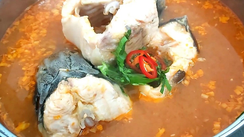 Cách nấu lẩu cá tầm 1