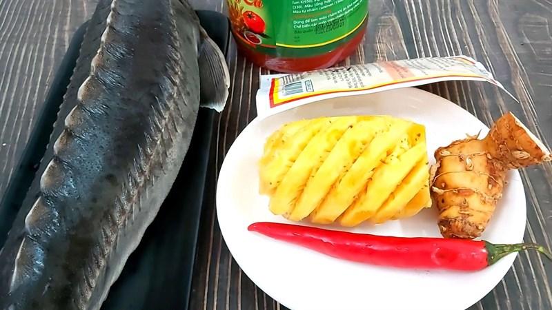 Cách nấu lẩu cá tầm 2