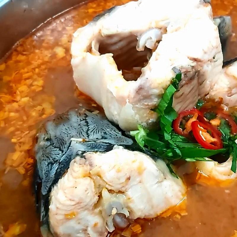 Cách nấu lẩu cá tầm 6
