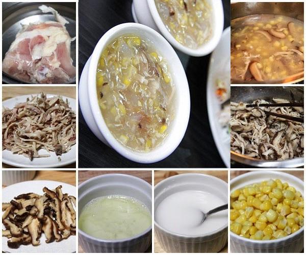 Cách nấu súp gà 5
