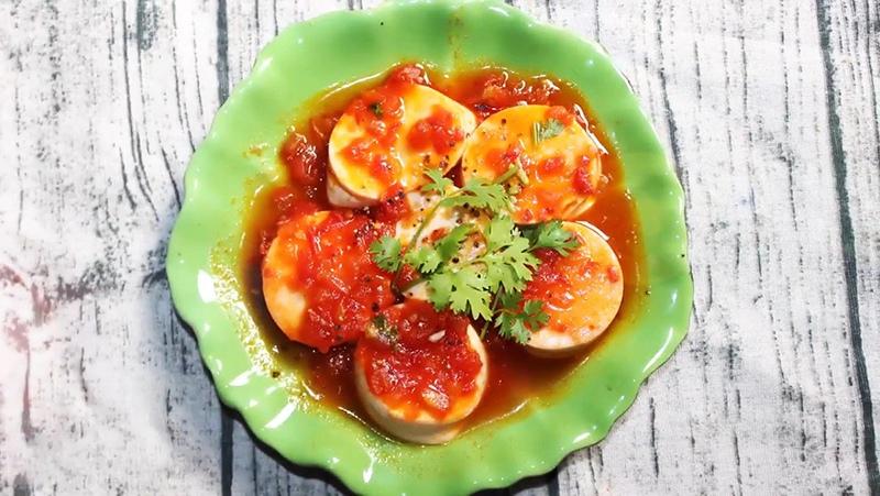 Đậu hũ non sốt cà chua 1