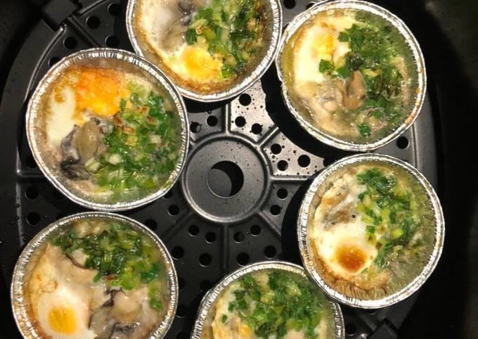 Hàu nướng trứng cút 2