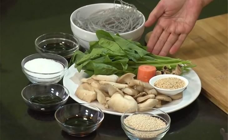 Cách làm miến trộn chay 2