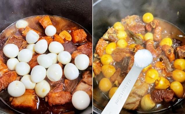 cách làm sườn kho trứng cút ngũ vị 2