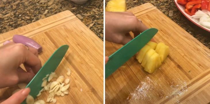 cách làm sườn xào dứa ớt chuông 3