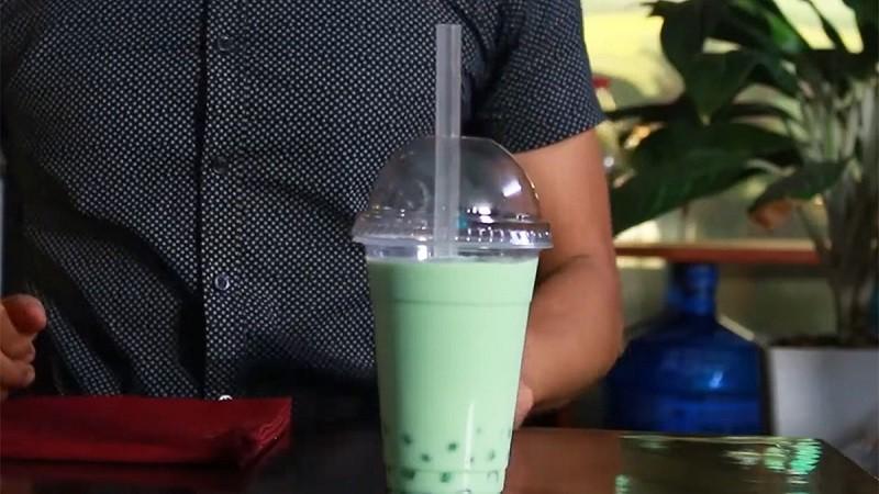 Cách làm trà sữa bạc hà 1