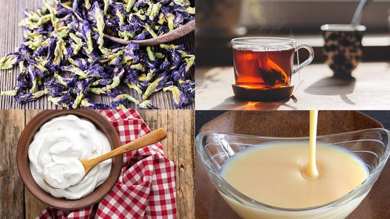 Cách làm trà sữa hoa đậu biếc 2