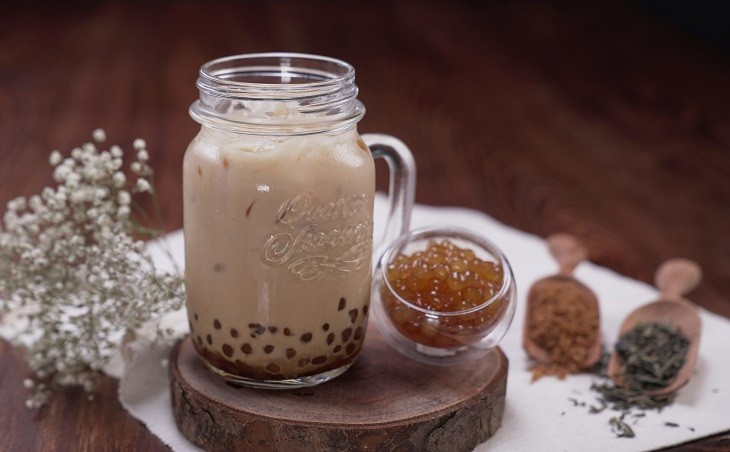 Cách làm trà sữa nướng 8