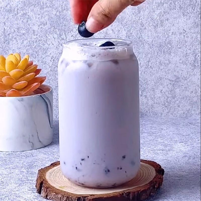 Cách làm trà sữa việt quất 7