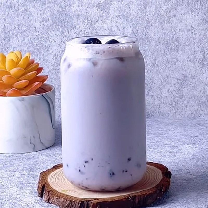 Cách làm trà sữa việt quất 8