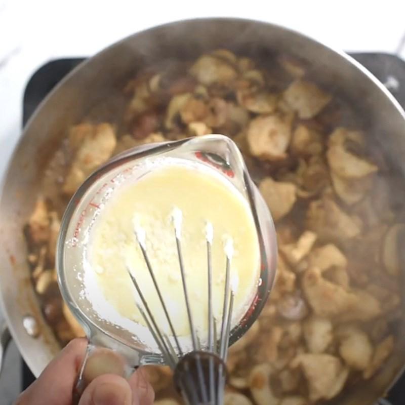 cách nấu súp kem thịt gà 4