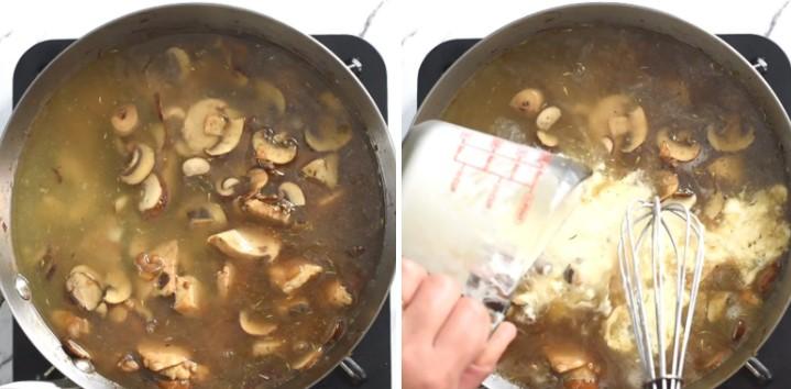 cách nấu súp kem thịt gà 5