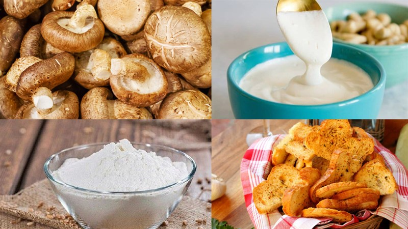 cách nấu súp nấm kem truyền thống 1
