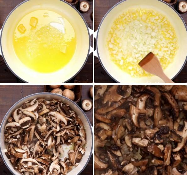 cách nấu súp nấm kem truyền thống 3