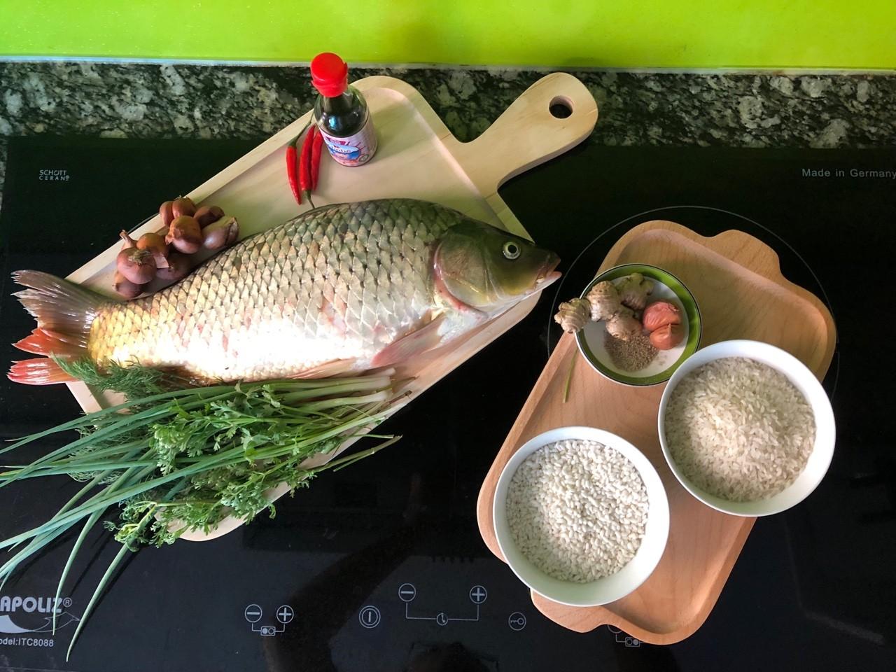 Cách nấu cháo cá chép 2