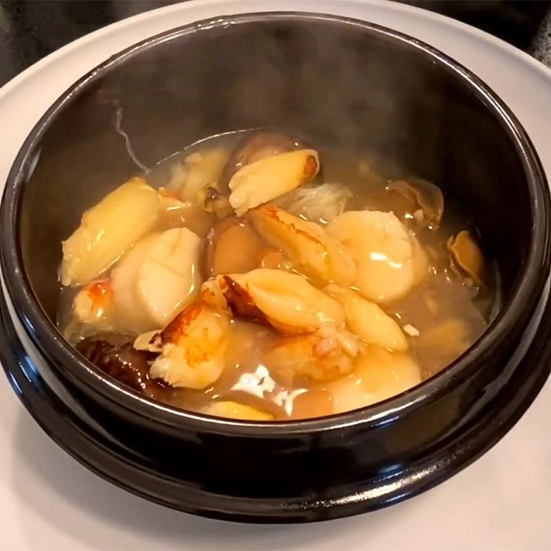 cách nấu súp bào ngư nấm hương khô 8