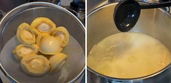 cách nấu súp bào ngư sườn heo bí đao 5