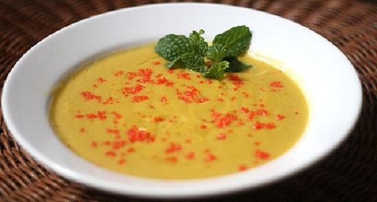cách nấu súp bí đỏ cá hồi 3