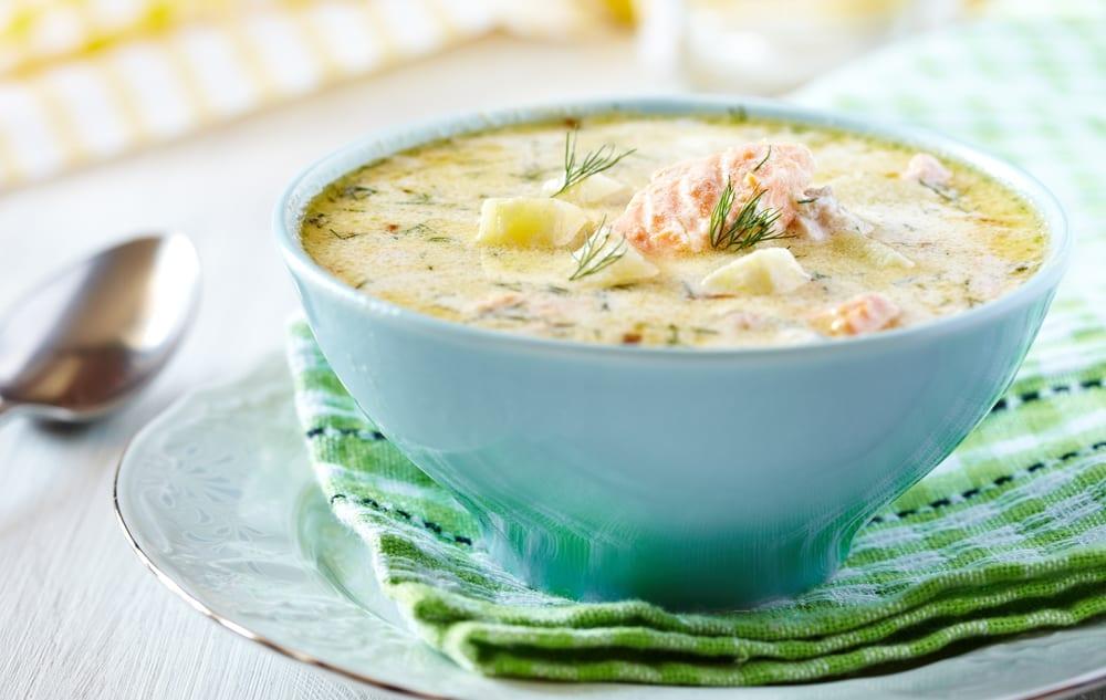 cách nấu súp cá hồi 1