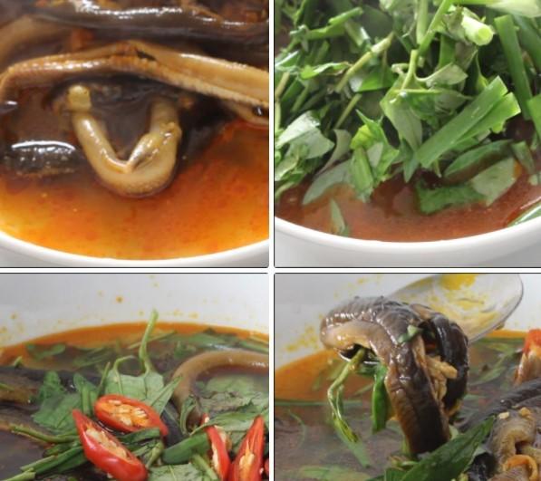 cách nấu súp lươn 11