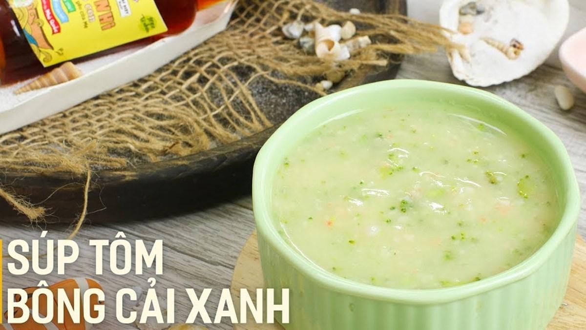 cách nấu súp rau củ tôm bông cải xanh 6
