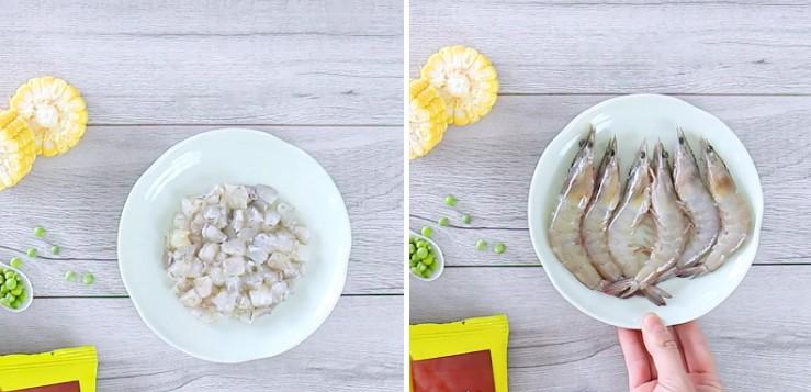 cách nấu súp rau củ tôm trứng 2