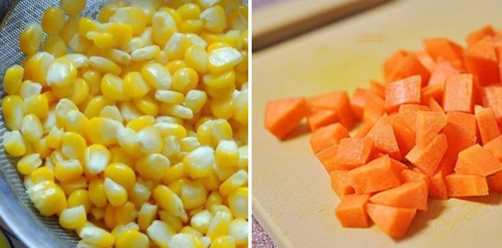 cách nấu súp rau củ tôm trứng 3