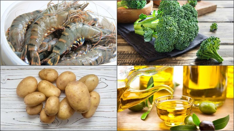 cách nấu súp rau củ tôm bông cải xanh 1