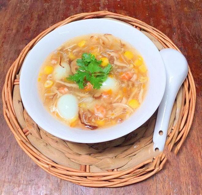 cách nấu súp trứng cút hải sản 6
